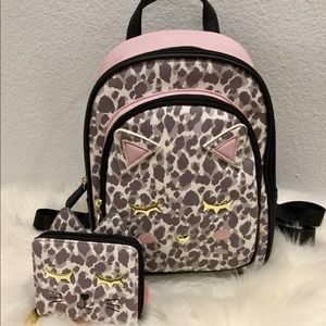 🎉Betsey Johnson Kitty Cat Backpack & Wallet